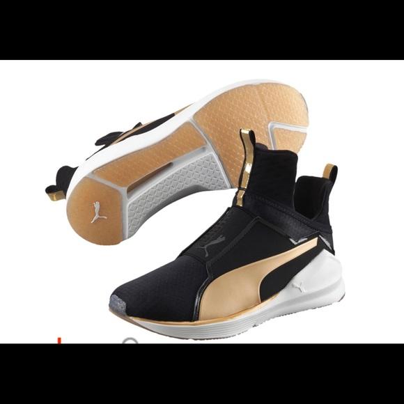 official photos 3fb5c 727ed Puma Fierce Gold Black Womens Training Shoes. M 5a9499da8df470ab8b821251